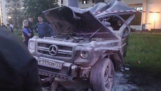 Машина Тимати охвачена огнем!